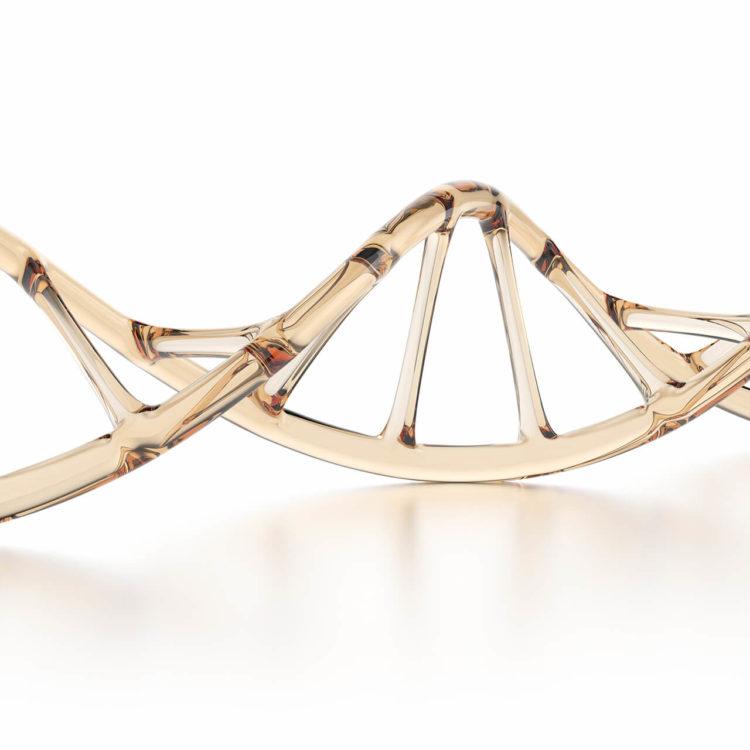 fita de CNA dourada, representando a nutrigenética